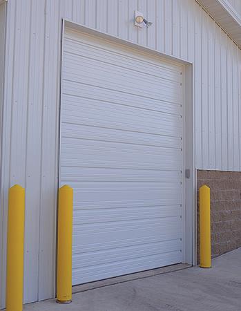 Ribbed Steel Commercial Garage Door In Cincinnati Dan The Doorman